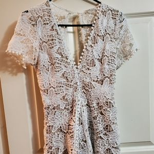 Charlotte Russe White Lace Romper